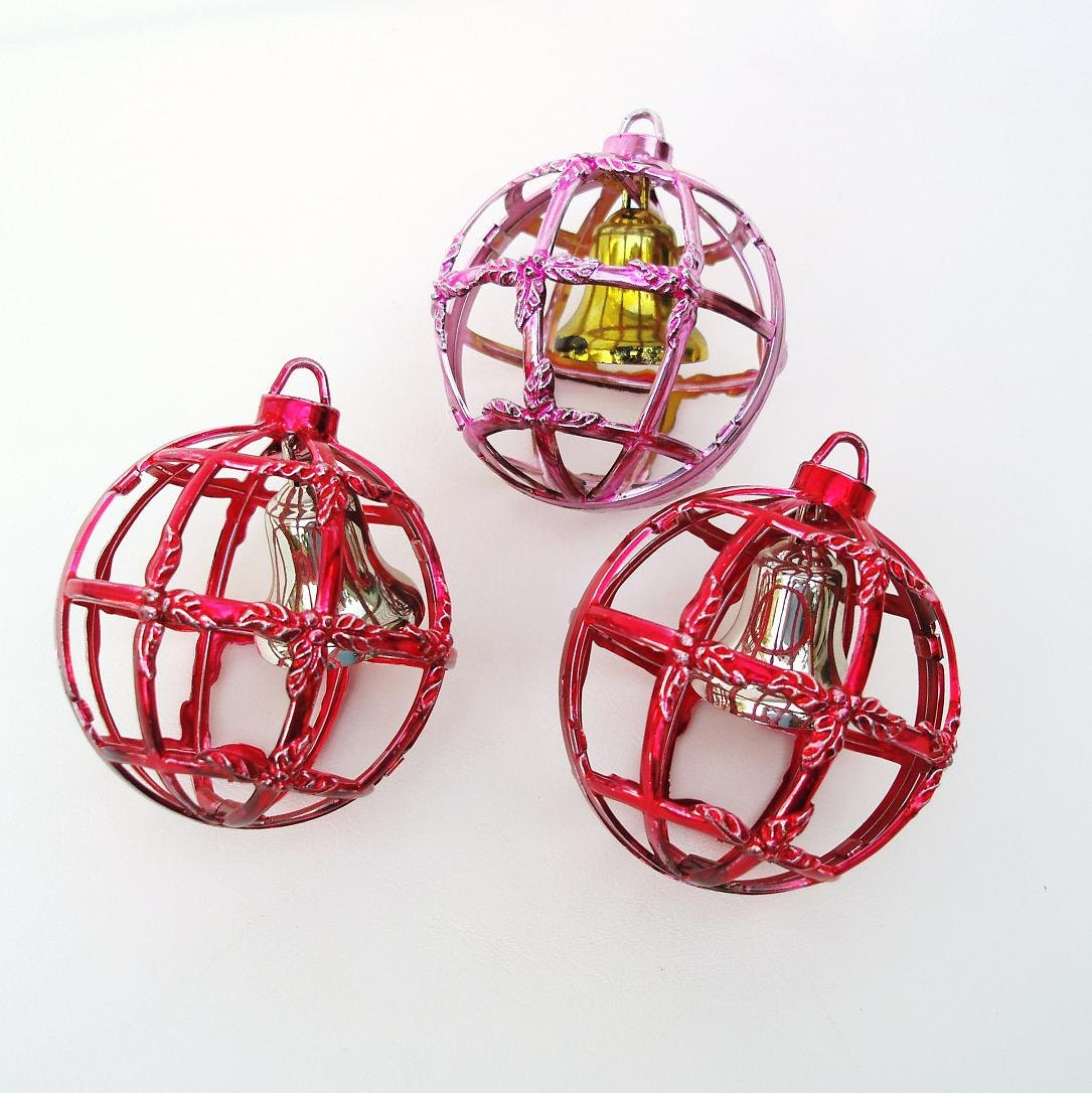 1950s Christmas Decorations Small Bells Decorative Balls