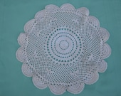 Vintage Crocheted Cream Doily - Vintage style for your Home.