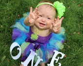 Under the Sea Tutu - Purple, Teal and Green Girls, Toddlers, Infants Photo Prop or Just for Fun