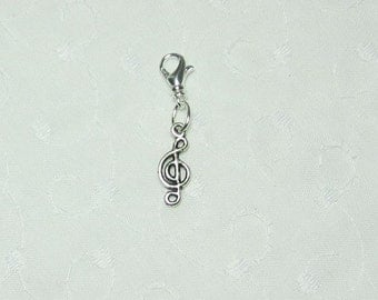 Treble Clef Phone Charm and Lobster Clasp