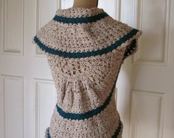 Pattern PDF for Heather on the Hill Circle Vest Version, Crochet Pattern Sleeveless Circle Sweater, Bolero