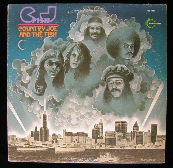 Country Joe and the Fish (band) - C. J. Fish (album title) - 1970 Vintage Vinyl / Record L.P. / Acid Rock / Folk Rock / Classic