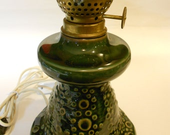 Vintage Ceramic table lamp produced by  WZMPT Walbrzych
