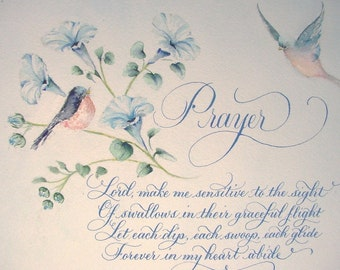 Calligraphy and Art for your Poetry, Quotes, Vows, Bible Verse and Song Lyrics.