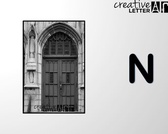 Download Letter N 205 Architectural Alphabet Photography - Printable sizes 4x6, 5x7 8x12 Digital Image - Family Name, Wedding, Personalize