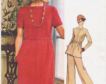 70s Geoffrey Beene Womens Dress, Tunic & Pants Vogue Americana Sewing Pattern 1100 Size 14 Bust 36 UnCut Vintage 70s Sewing Patterns