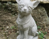 Chihuahua Statue, Concrete Chihuahua Statues, Cement Dog Concrete Figure, Dog Statues, Concrete Dog Statue, Toy Dog Figures, Pet Memorial