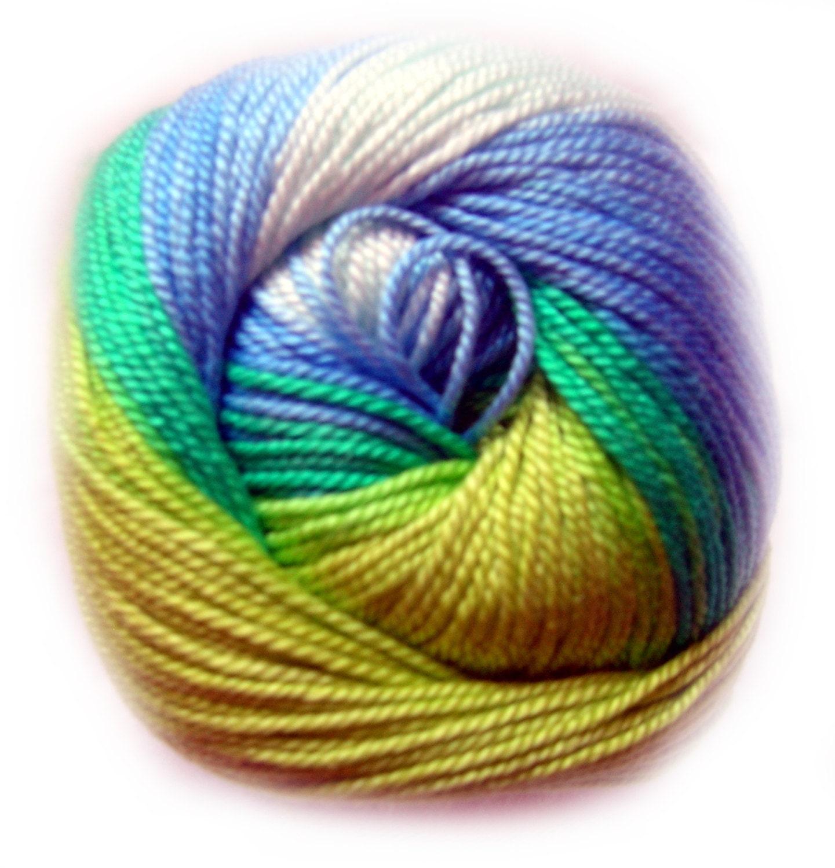 Batik Designed Cotton Yarn Alize Miss Batik. 100% Mercerized
