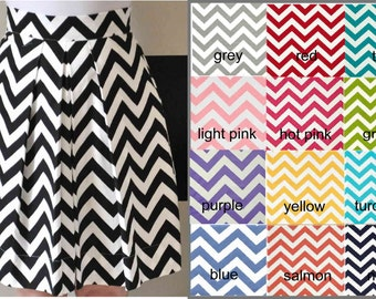 Chevron Bridesmaid Skirt in green, turquoise, hot pink, light pink, purple, blue, grey, navy, black, red, yellow, teal, coral,custom made