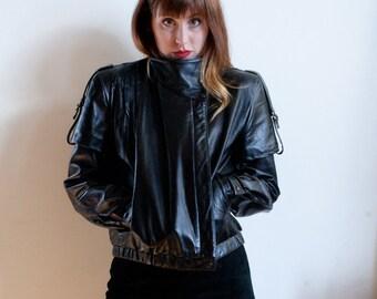 VTG Sergio Valente Double Sleeved Leather Jacket