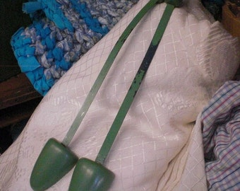 Pair Of Green Vintage Shoe Stretchers