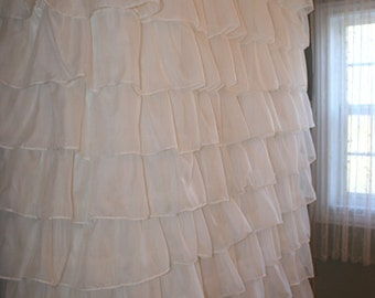 Custom Ruffled Curtain - Voile/Sheer Starting at: