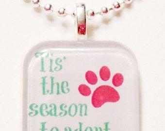 Tis' the season to adopt  glass tile Pendant