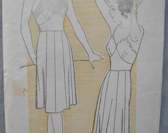 Fabulous Vintage 30's Ladies' FULL SLIP PATTERN Factory Folded