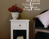 Family Wall Decal Vinyl Lettering - Family Rules Vinyl Wall Decal - Famliy Subway Vinyl Wall Art (smaller size)