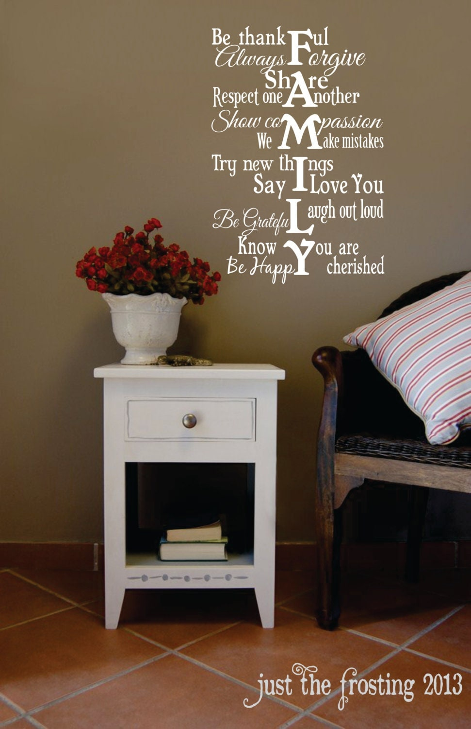 Family Wall Decal Vinyl Lettering Family Rules by ...