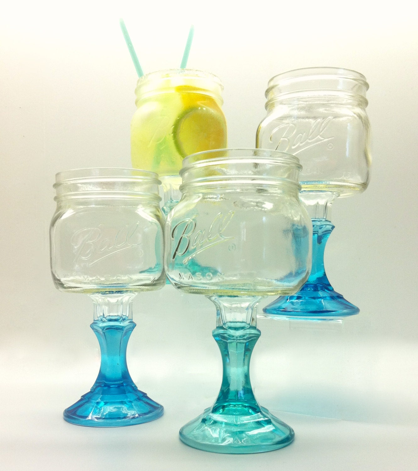 Unavailable listing on etsy - Mason jar goblets ...