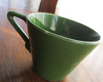Teacup - Coffee Cup - Harlequin - Forest Green - Homer Laughlin - Green Teacup - Cone Shaped Teacup