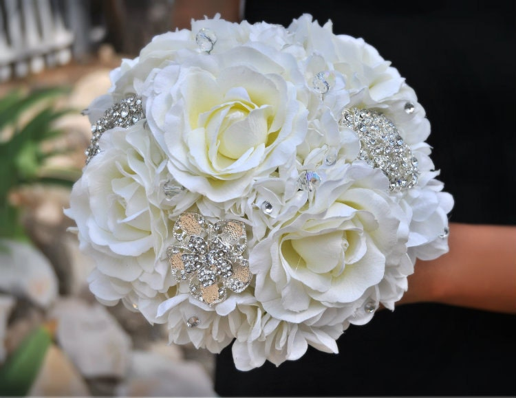 crystal wedding flower bouquets jeweled bouquet wedding bouquet bridal 3216