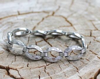 Vintage Silver Chunky Coro Link Bracelet