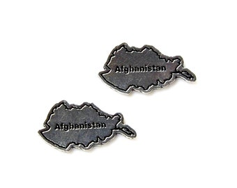 Afghanistan Cufflinks - Gifts for Men - Anniversary Gift - Handmade - Gift Box Included