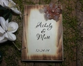 Rustic Wedding Guest Book Personalized