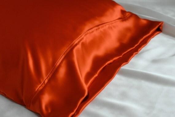 Sale 100 Silk Pillowcase Pumpkin Orange By Adorabellababy
