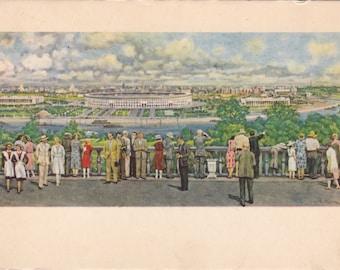 Vintage Huon (Moscow. Luzhniki Stadium) Postcard - 1959, Soviet Artist