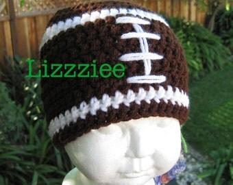 Daddy's Little Football Fan Crochet Hat Pattern PDF -Boys or girls beanie earflap hat - Instant Digital Download