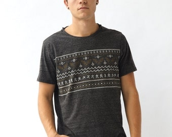 Fair Isle Men's Tee - Gray Heather