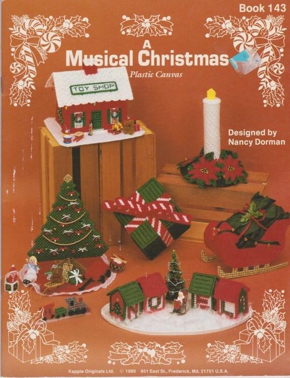 A Musical Christmas - Plastic Canvas - Book 143 - Kappie Originals