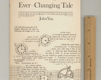 The Reading of an Ever-Changing Tale by John Yau 1976 First Edition Limited to 500 Copies Vintage Poetry Book Published by Nobodaddy Press