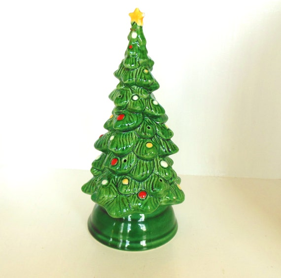 Vintage christmas ceramic tree avon by vintagebytheseashore