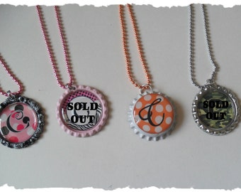 Your Choice Of Initial C Bottlecap Necklace Pick your Style