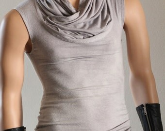 PRE-ORDER Tshirt T Shirt Top Tank Single Hoodie Hood Wool Eco Grey Gray Drape Unisex - Chrisst 4 Life