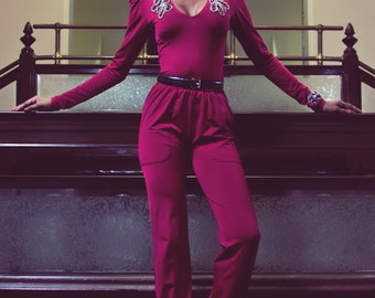 Cranberry Red Two Piece Pants Outfit
