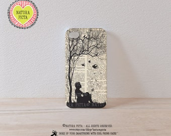 3D case Little girl with dandelion on dictionary page 3D iPhone case 4/4S- iPhone 5/5S - Galaxy S4 case - Design by Natura Picta-NP3D006