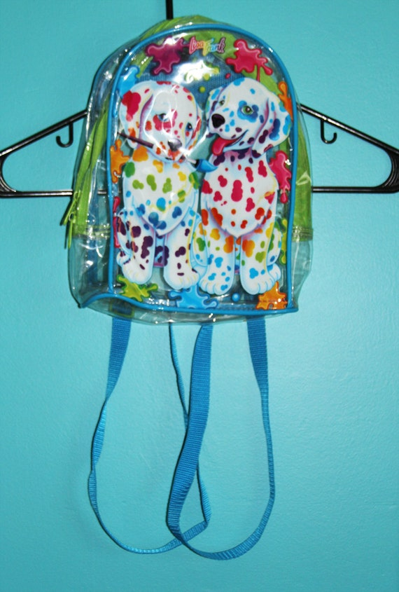 Lisa Frank Clear Paint Splatter Dalmations Puppy Backpack