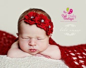 Valentines Baby Headband - 8 Color Options - Baby Girl Headbands - Baby Hairbows - Infant Headband - Red Headband - headband baby  Baby bows