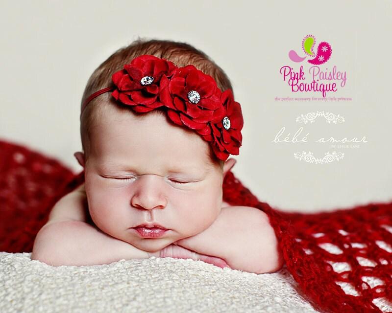 Christmas Baby Headband 8 Color Options Baby Girl