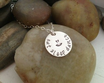 Dance - Eat Sleep Dance - Hand Stamped necklace- Sterling Silver - Dancers Jewelry