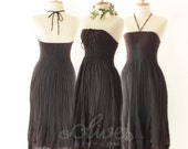 Sale 30% Off, Strapless Ruffle Cotton Dress in Black, Coupon Code: 20071330