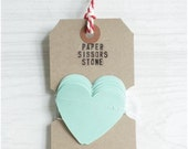Mint Green Heart Garland Paper Bunting - 4.5ft