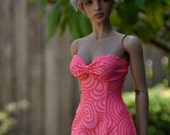 Coral and salmon swirl sundress for your Iplehouse EID bjd ladies