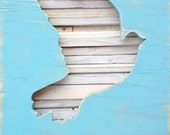 Reclaimed Wood Art - Peace - Dove
