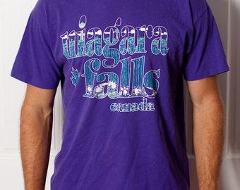 NIAGRA FALLS Canada - Purple Tshirt