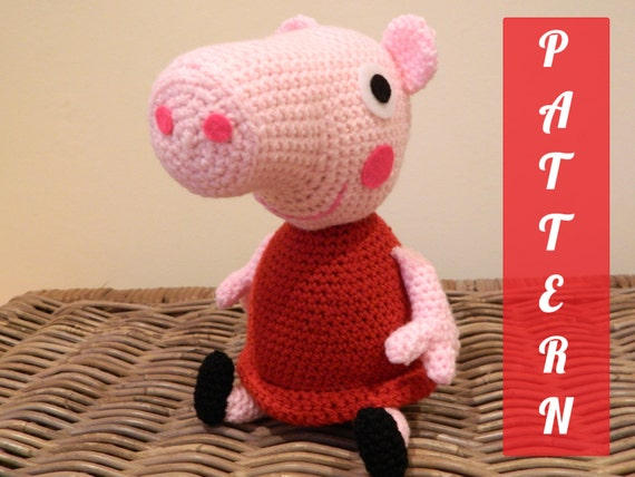 Amigurumi Minecraft Pig : PDF pattern Peppa Pig plush doll crochet by LottiesCreations