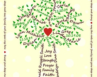 Family Tree Digital File - Yellow