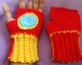 Adult Crochet Iron Man Gloves