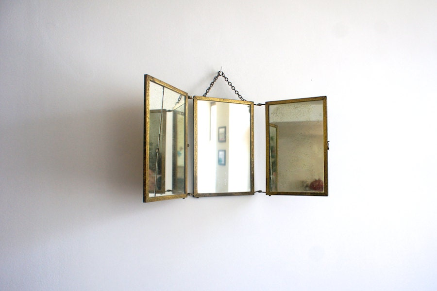 Antique French Vanity Mirror 1900 Three Way Mirror